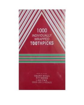 Ξύλινες οδοντογλυφίδες ντυμένες 1000τμχ