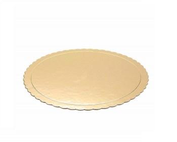 Δίσκος βάση τούρτας χάρτινη χρυσή