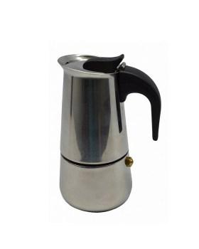 Καφετιέρα εσπρέσσο ανοξείδωτη 2 φλυτζάνια