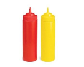 Μπουκάλι κέτσαπ μουστάρδας πλαστικό