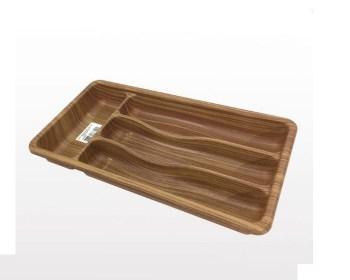 Πλαστική κουταλοθήκη συρταριού όψη ξύλου 20χ36εκ.