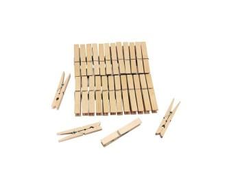 Μανταλάκια ξύλινα 24τμχ