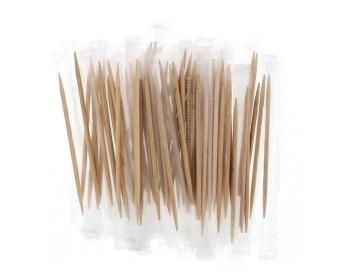 Οδοντογλυφίδες μπαμπού ντυμένες 1000τμχ Ε-0121
