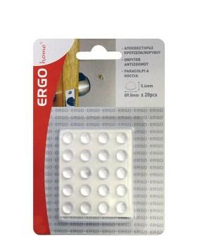 Αποσβεστήρες κρούσεων προστατευτικά ντουλαπιών ERGO 570608.0001 9,5*3,8χιλ. 20τμχ