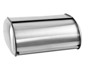 Ψωμιέρα inox με συρόμενο καπάκι Ε-0906