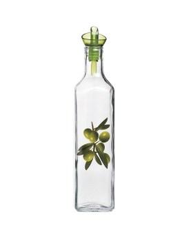 Γυάλινο μπουκάλι λαδιού με ρόι τετράγωνο 500ml