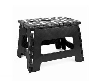 Πλαστικό πτυσσόμενο σκαμπό 30*25*22εκ Ε-1326 μαύρο
