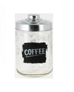 Βάζο καφέ με μεταλλικό καπάκι 800ml