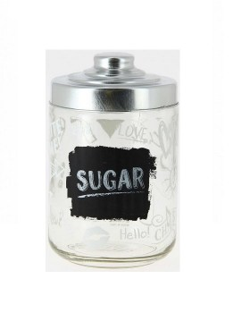 Βάζο ζάχαρης με μεταλλικό καπάκι 800ml