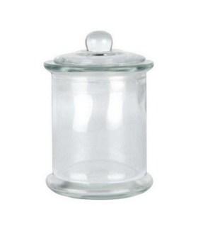 Γυάλινο βάζο μεγάλο με καπάκι 2,5λτ